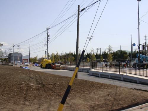各務原の道路工事