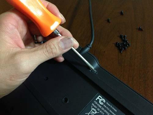 DELLのキーボードを分解